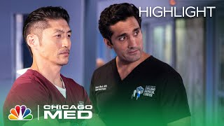 Choi and Marcel Have Differing Opinions on What It Means to Do No Harm - Chicago Med