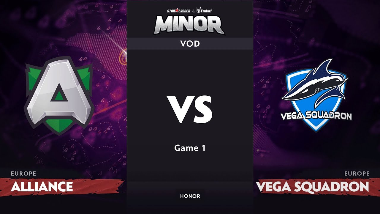 [RU] Alliance vs Vega Squadron, Game 1, EU Qualifiers, StarLadder ImbaTV Dota 2 Minor