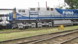 Locomotivas GE ES43BBI Rumo & Klabin - Mairinque-SP.