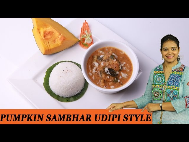 Sambar with pumpkin recipe easy short fast in telugu