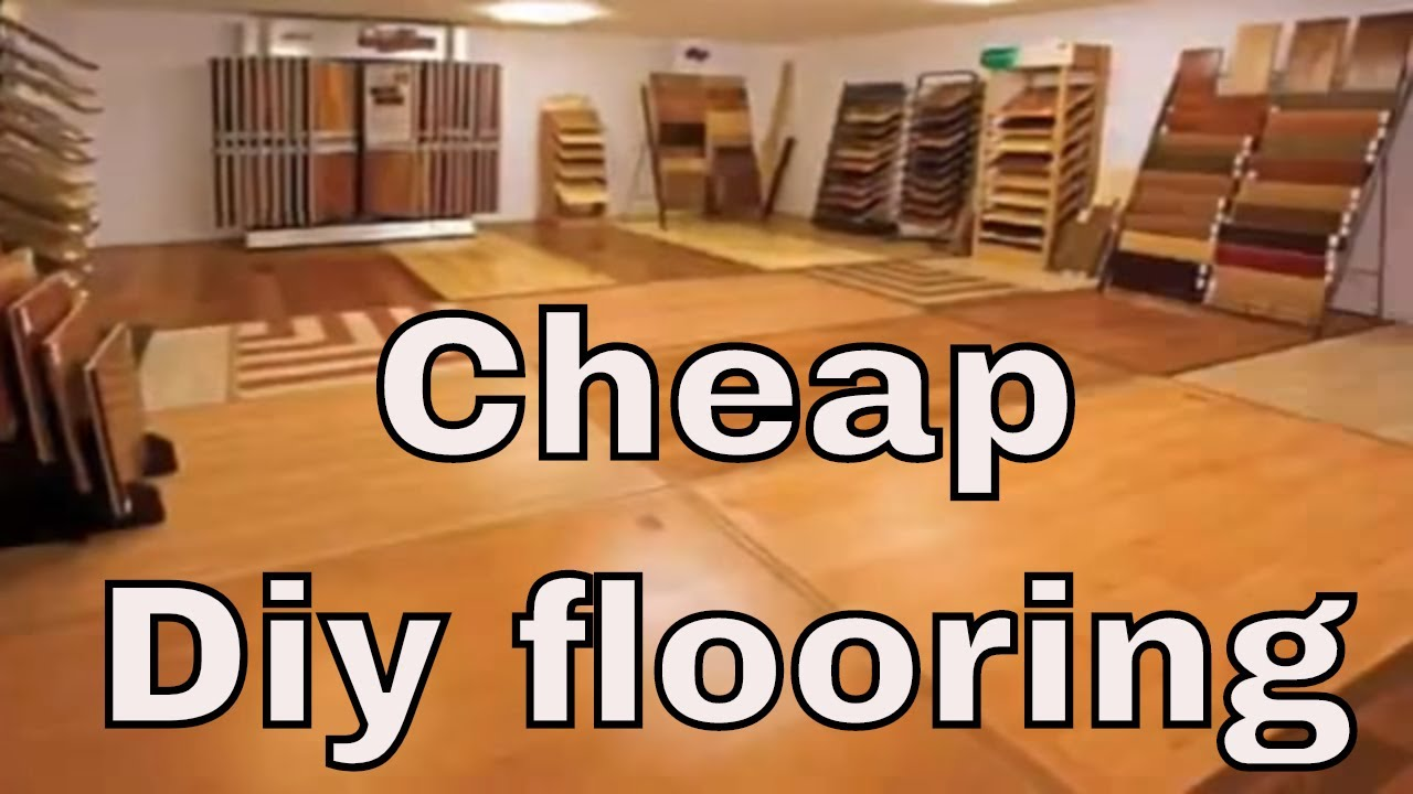 Cheap diy flooring youtube for Diy flooring ideas on a budget