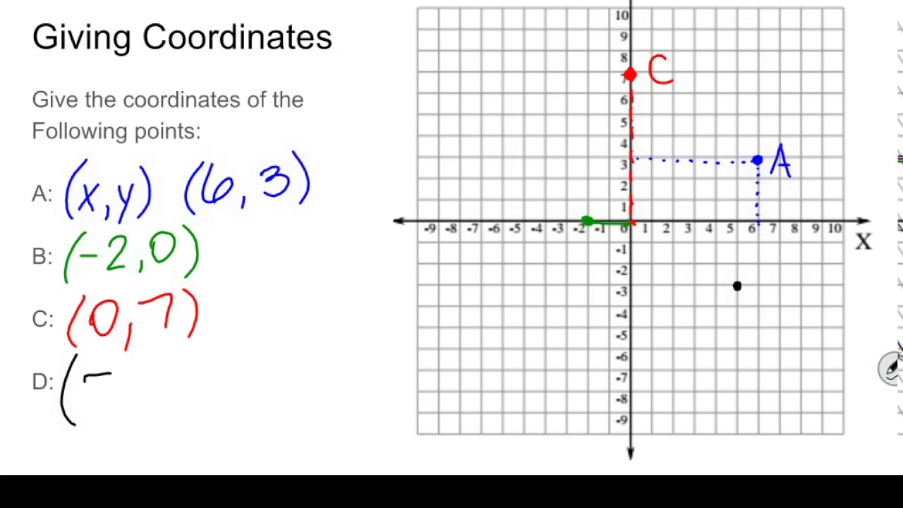 Coordinate Plane Graphing Points and Input and Output