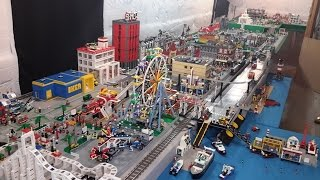 LEGO City Complete Overview--Over 300 Square Foot Layout