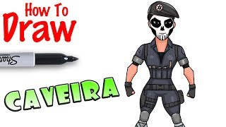 How to Draw Caveira | Rainbow 6 Seige