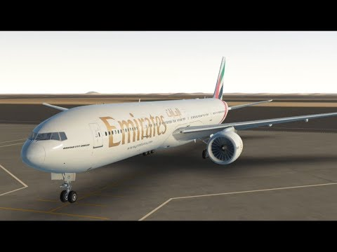 Emirates 901 B777-300ER Dubai - Amman~~Infinite flight