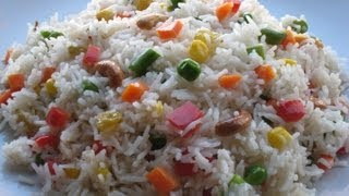 Vegetable pulao /  Bengali fried rice ( Ghee bhaat with vegetables ) recipe