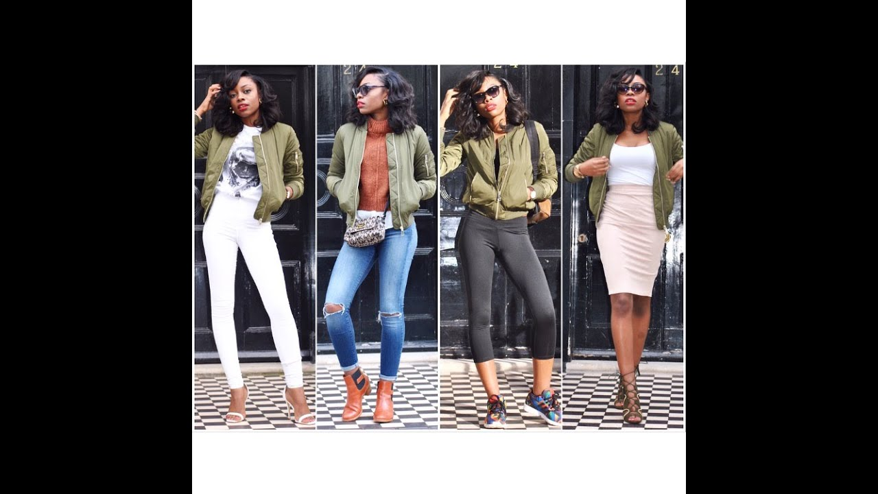 How to | Wear a Bomber Jacket: 4 Ways - YouTube