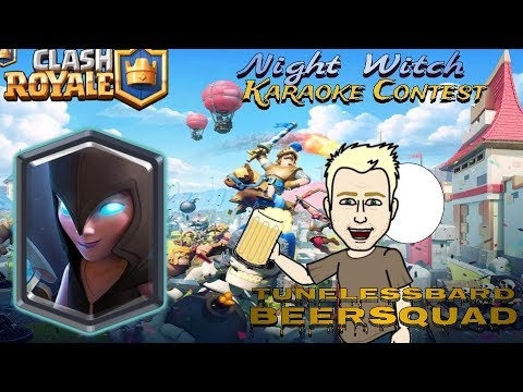 Night Witch Karaoke Contest WINNER #ClashRoyaleKaraoke - Tune and Moose