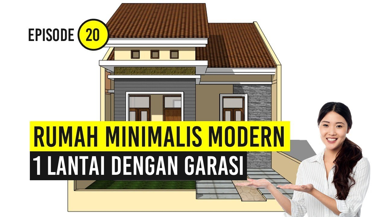 Rumah Minimalis Modern 1 Lantai Dengan Garasi Youtube