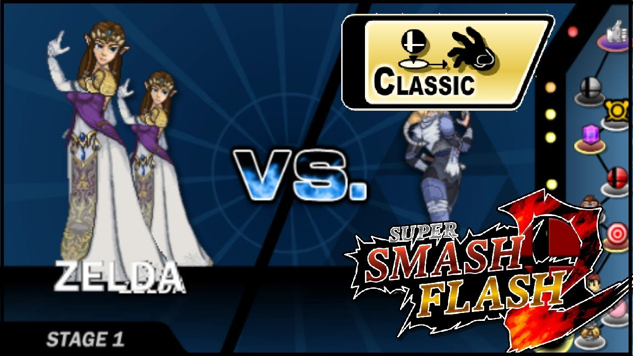 Super Smash Flash 2 Classic Mode-Zelda