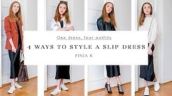One Dress, Four Outfits || 4 Ways to Style a Slip Dress || Pinja K