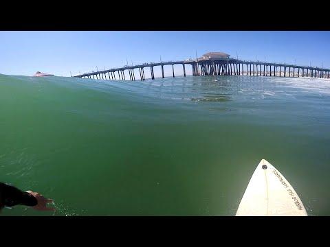 Surfing HB Pier POV | April 4th | 2016 (Raw Cut)