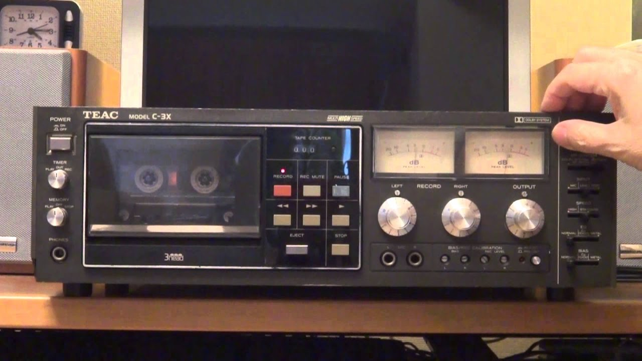 Old But Cool Audio / TEAC Cassette Deck C-3X - YouTube