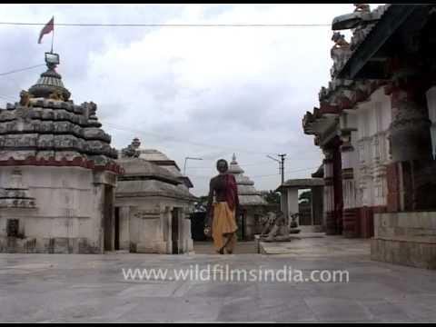 Inside the Kedareswar Temple in Bhubaneswar, Orissa