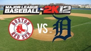 Major League Baseball 2K12 Red Sox vs Tigers