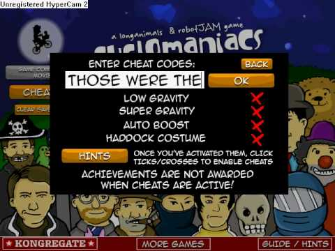CycloManiacs Cheats! ALL CHEATS ARE ON THIS VIDEO!