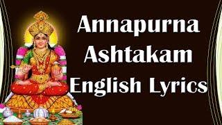 DIWALI  | Annapurna Ashtakam  English Lyrics - Devotional Lyrics - Easy to Learn - BHAKTHI