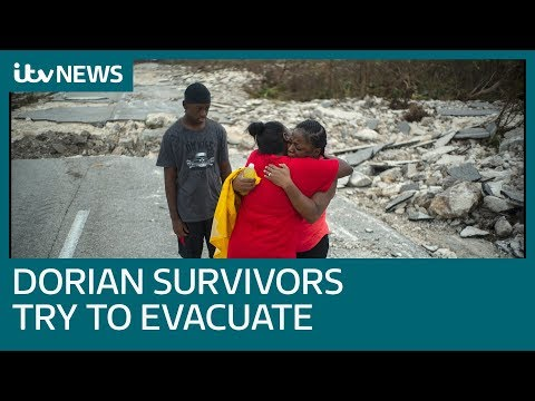 Hurricane Dorian survivors face harrowing ordeal of trying to leave island | ITV News