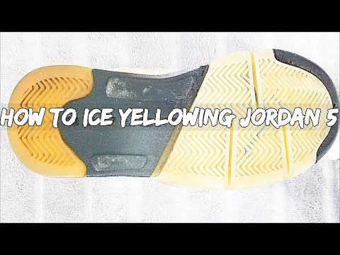 How To Ice Yellowing Jordan 5 (Quick & Simple)