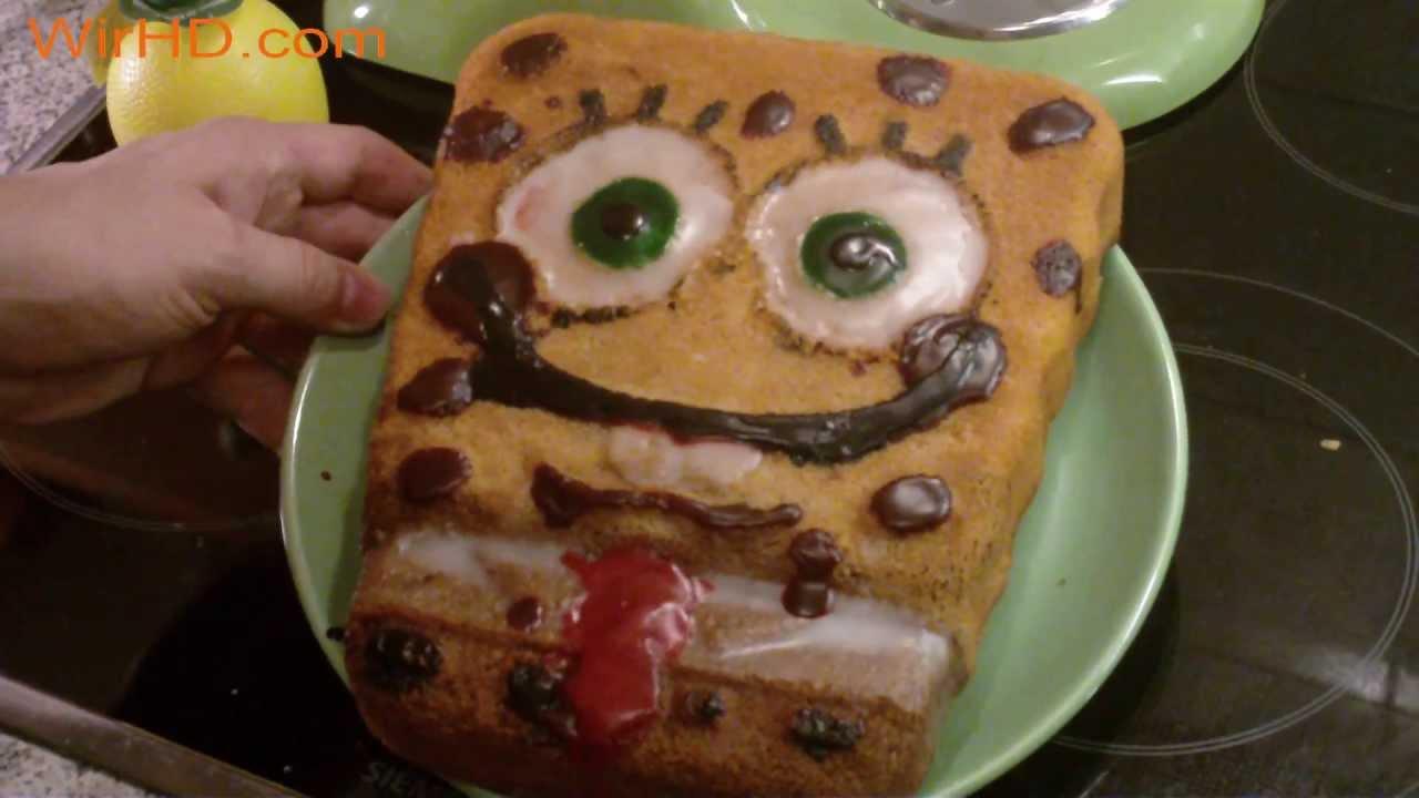 Spongebob Kuchen Selber Backen Spongebob Schwammkopf Kuchen Rezept
