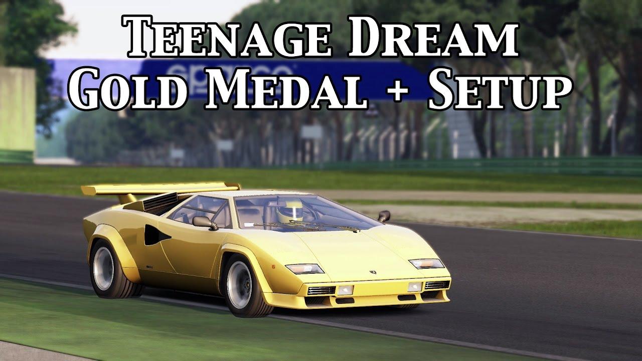 Assetto Corsa Teenage Dream Gold Medal Lamborghini Countach