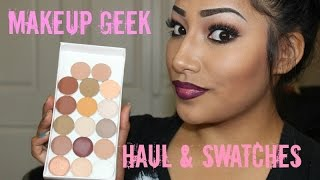 Makeup Geek Haul Eyeshadows!! Swatches & Review First Impressions | Alexisjayda