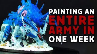 Painting An ENTIRE WARHAMMER 40K ARMY IN 1 WEEK