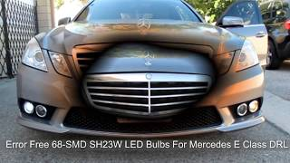 2010 mercedes w212 e350 with error free led daytime running lights