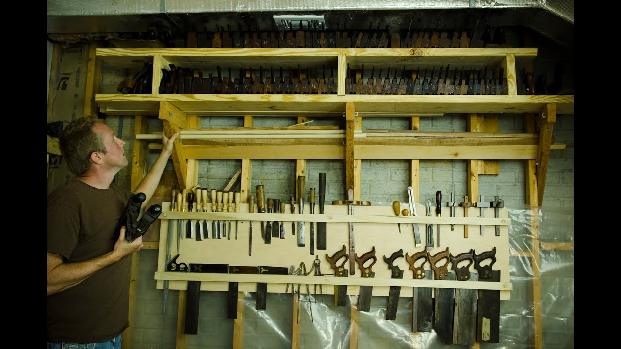 How to Make a Woodworking Hand Tool Storage Board - YouTube