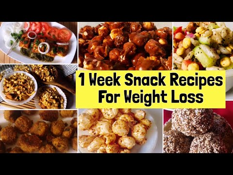 7 Healthy Snacks Recipes For Weight Loss | Easy & Simple Indian Vegetarian Snack Recipes | Hindi