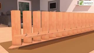 Vidéo: Escalier en bois Savoy: droit, rampe [SY3]