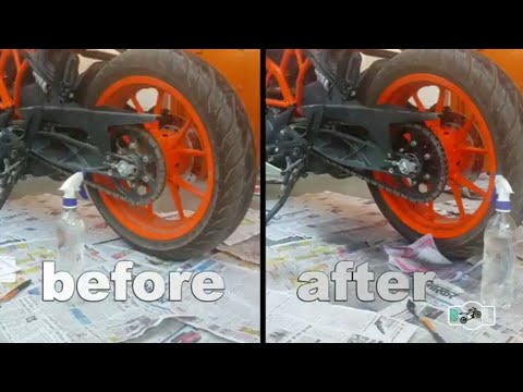 How to lube your chain | ktm rc 200| in 3 easy steps