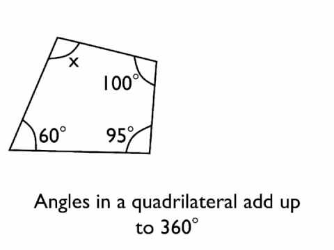 Angles In A Quadrilateral Youtube