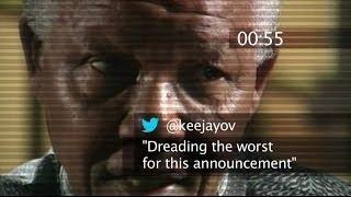 TWITTER 60 SEC BEFORE WE KNEW MANDELA DIED - #BBCtrending - BBC NEWS