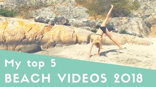 Beach tumbling 2018! My top 5 best beach videos♡