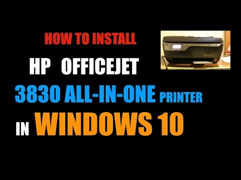 How To Install HP OfficeJet 3830 Printer In WINDOWS 10 | Home Canada