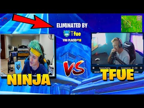 NINJA GETS DESTROYED BY ANOTHER STREAMER 1V1 IN FORTNITE | NINJA VS TFUE 1V1| FORTNITE FUNNY MOMENTS