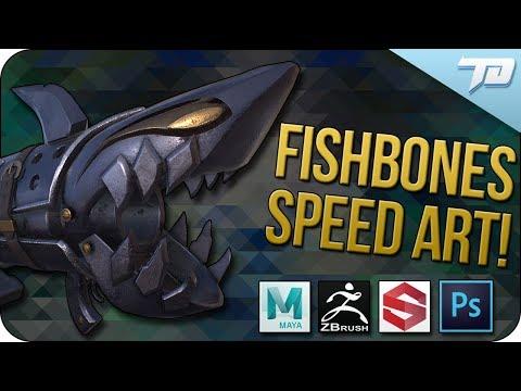 Fishbones Rocket Launcher Game Asset Speed Art I League Fan Art