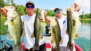Catching MONSTER Bass on WACKY RIGS! (Lake Guntersville)