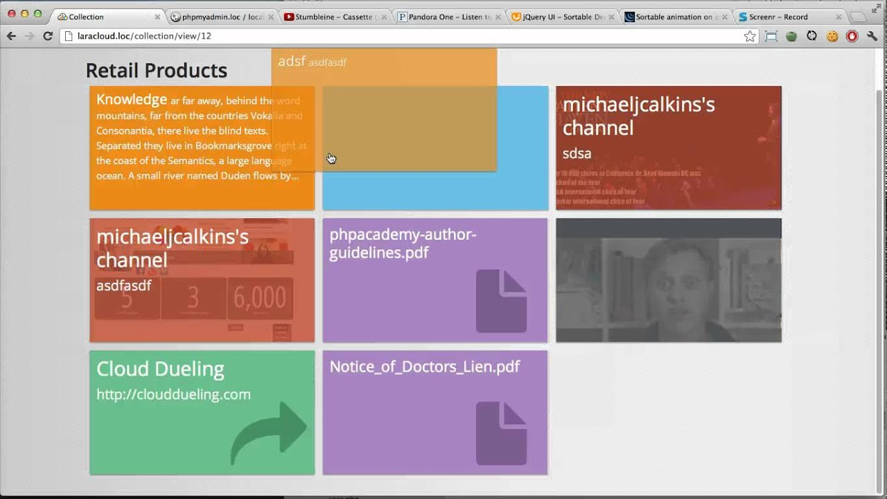 How to make jQuery sortable lists feel more natural
