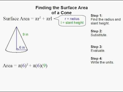 How to Find the Surface Area of a Cone  YouTube
