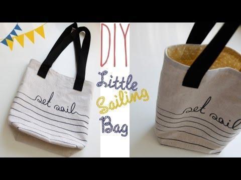 "DIY ""Little Sailing Bag"" Tasche selber nähen"