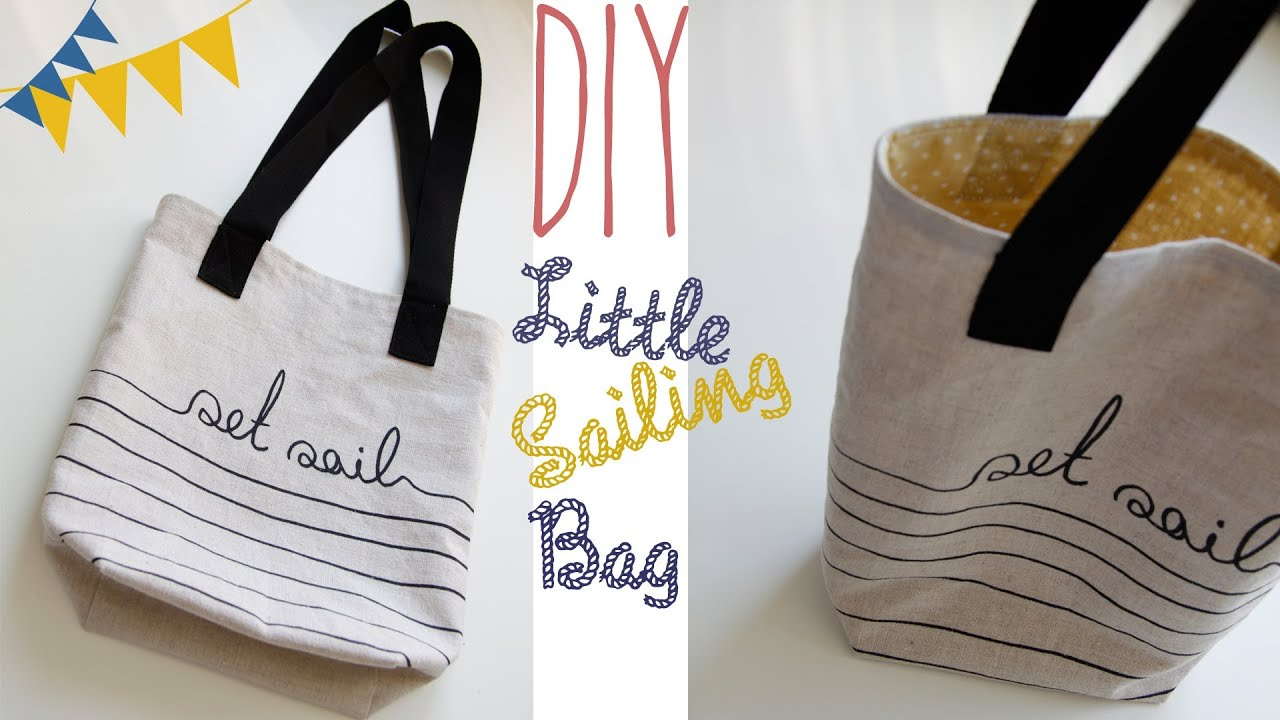 diy little sailing bag tasche selber n hen youtube. Black Bedroom Furniture Sets. Home Design Ideas