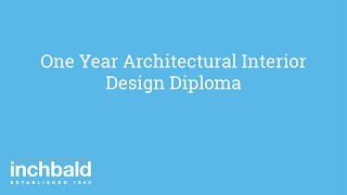 One Year Architectural Interior Design Diploma