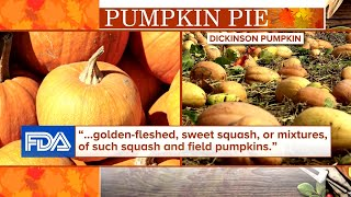 Canned pumpkin is actually squash