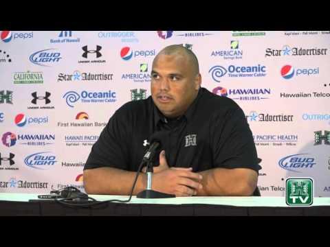 Hawaii Football Post-Game Press Conference Chris Naeole vs. Fresno State 11-14-15