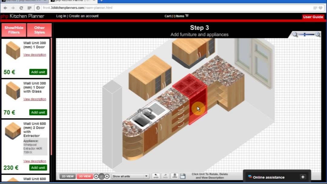 Create your own online 3d interior planner with php for Build your own planner online