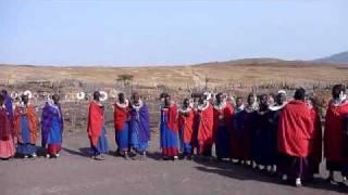 タンザニアのマサイ族のジャンプです.
