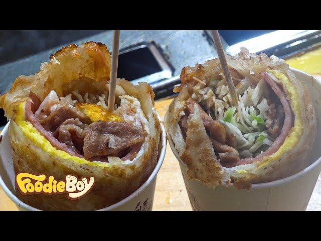 Hoy Tto with Jeju Black Pork / Korean Street Food / Jeju Island Korea