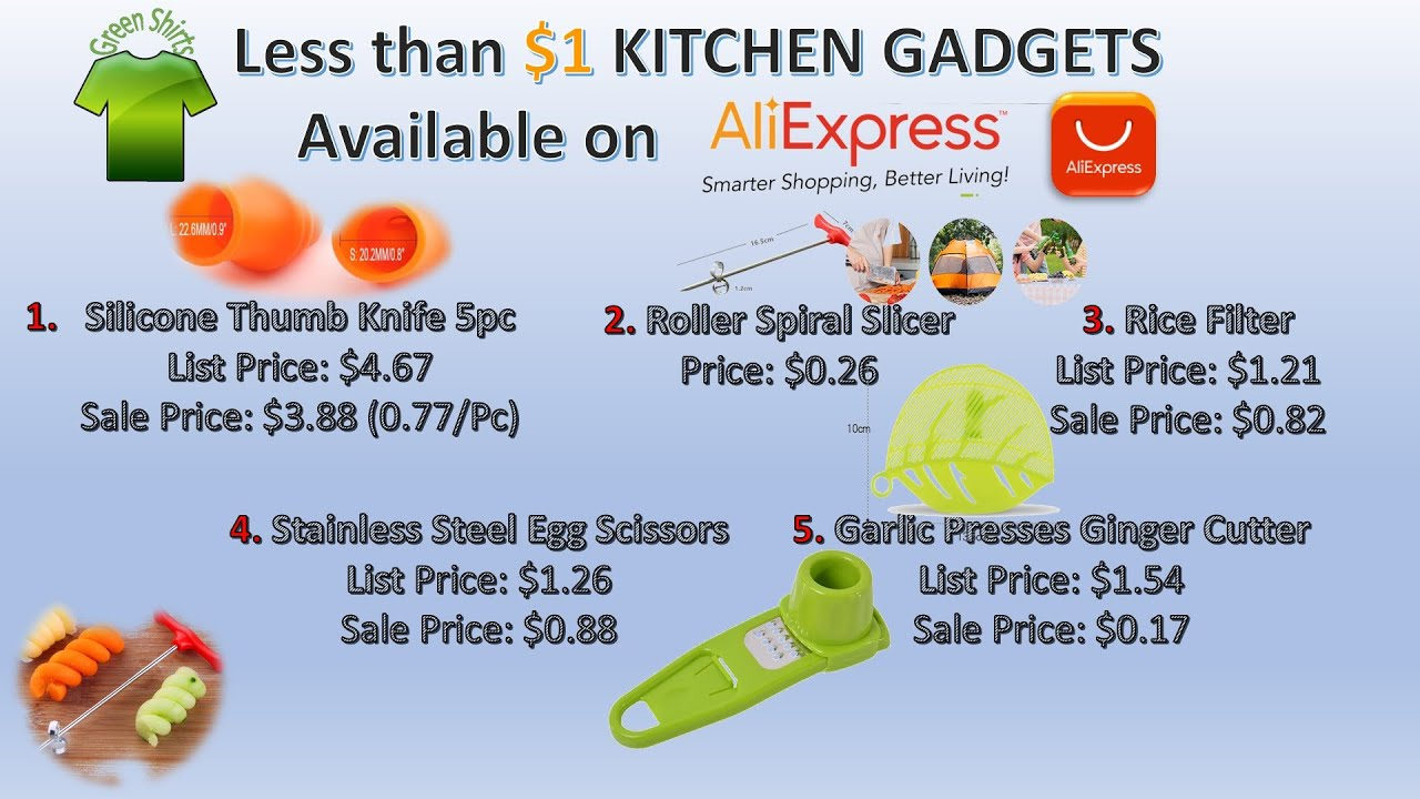 Less than Dollar ( $1 ) KITCHEN GADGETS Available on ALIEXPRESS | Smart Gadgets
